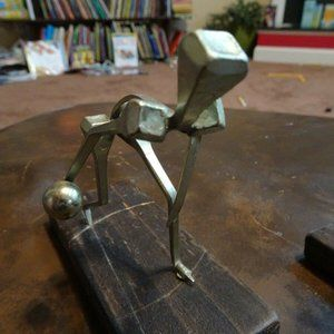 Vintage Accents - Vtg Brutalist Welded Nail Modernist Sculptures
